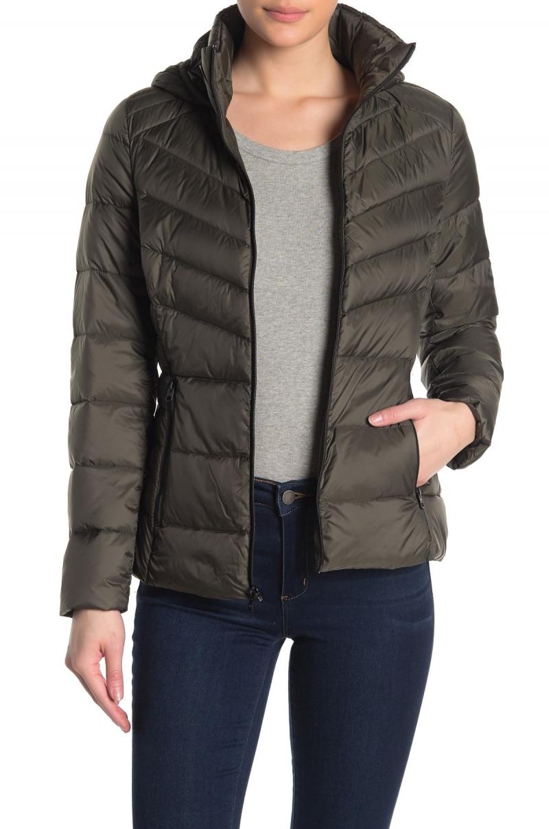 ihocon: Lucky Brand Missy Hooded Short Packable Down Jacket 女士連帽羽絨外套