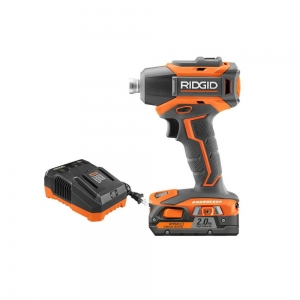 ihocon: RIDGID 18-Volt Lithium-Ion Cordless Brushless 1/4 in. Impact Driver Kit with 2.0 Ah Battery and 18-Volt Charger 含電池及充電器