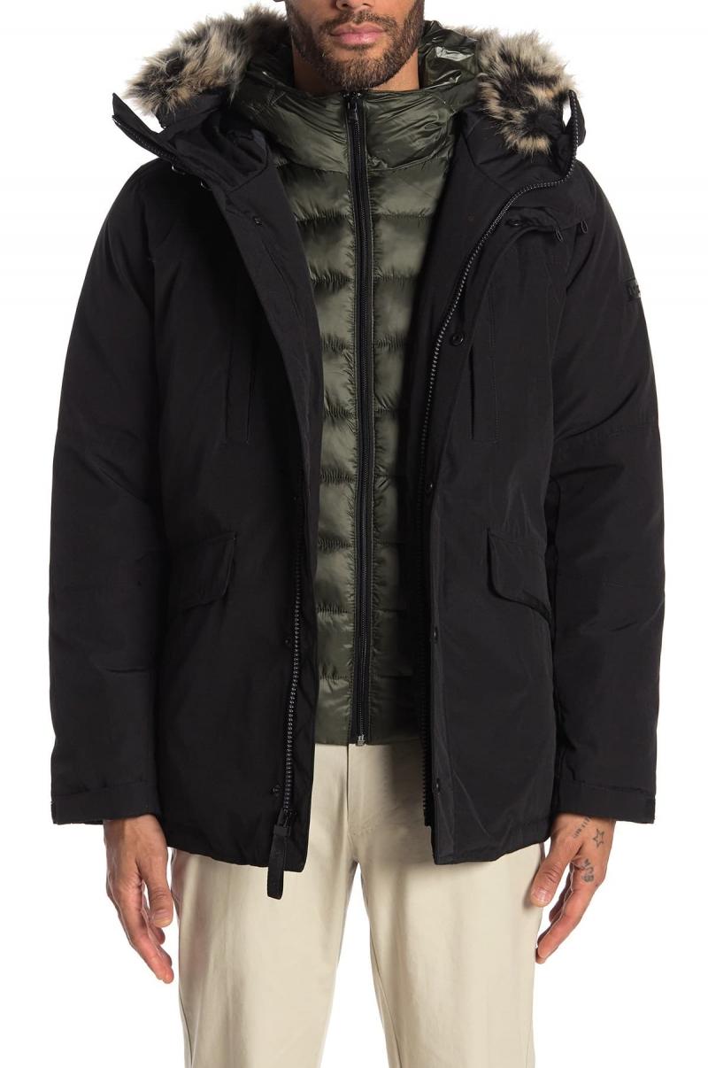 ihocon: Michael Kors Faux Fur Trim Hooded Coat 男士連帽大衣