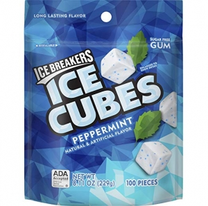 ihocon: ICE BREAKERS Ice Cubes Sugar Free Gum, Peppermint, 100 Piece  無糖口香糖