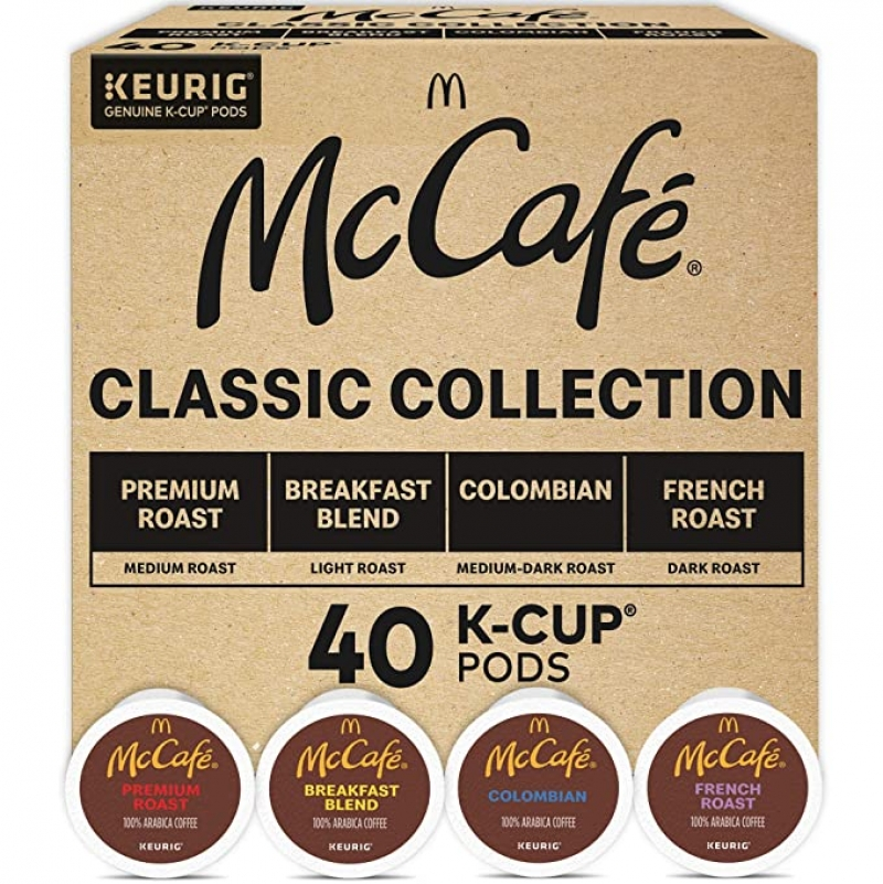ihocon: Keurig McCafe Classic Collection, Single Serve Coffee Keurig K-Cup Pods, Classic Collection Variety Pack, 40 Count