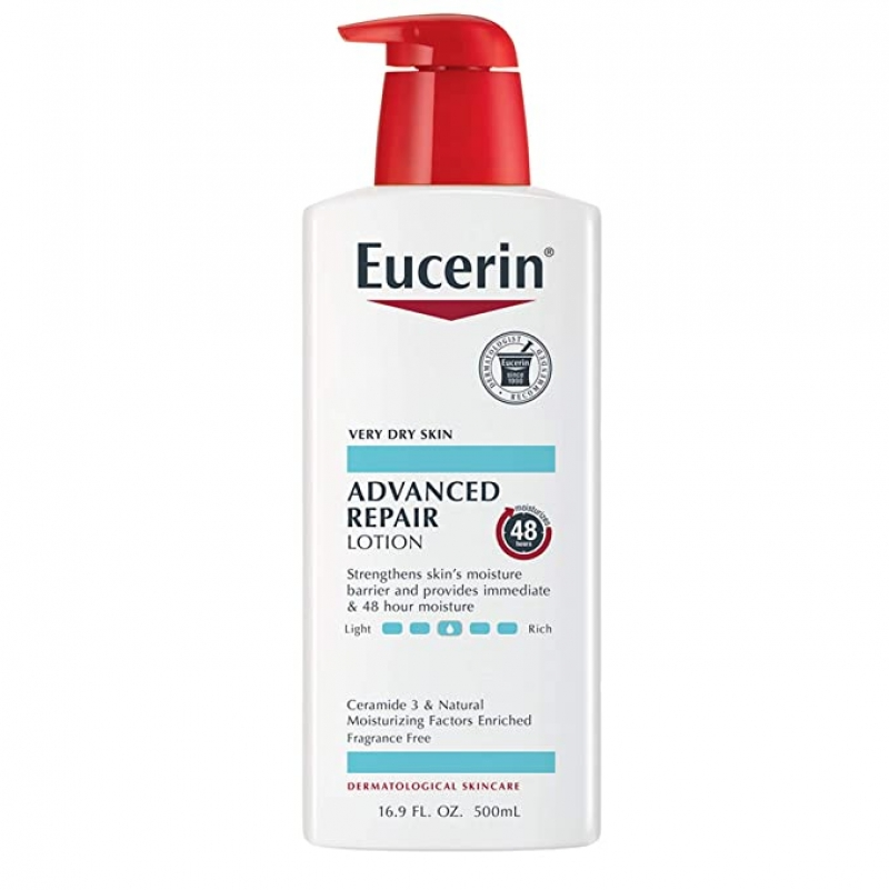 ihocon: Eucerin Advanced Repair Lotion, Fragrance Free, 16.9 Fl Oz 保養乳液
