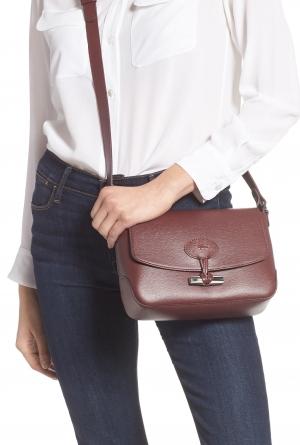 ihocon: LONGCHAMP Roseau Leather Crossbody Bag 真皮包包