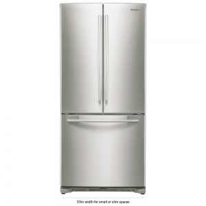 ihocon: Samsung 33 in. W 17.5 cu. ft. French Door Refrigerator in Stainless Steel and Counter Depth 不銹鋼法式門冰箱