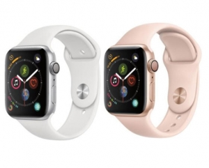 ihocon: Apple - Apple Watch Series 4 (GPS) 44mm Silver Aluminum Case with White Sport Band - Silver Aluminum