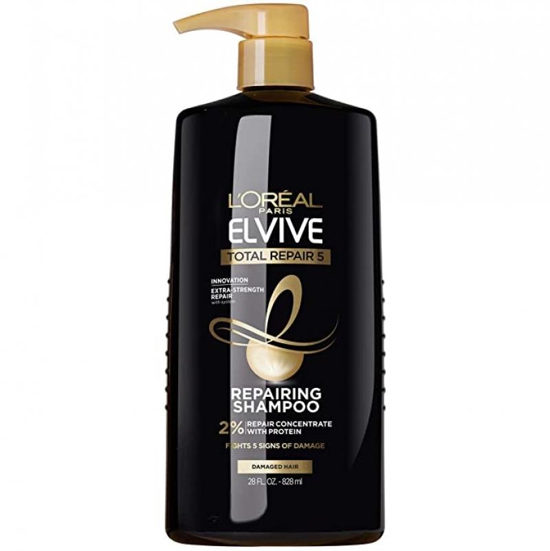 ihocon: L'Oreal Paris Elvive Total Repair 5 Repairing Shampoo for Damaged Hair, 28 Fl Oz 修復洗髮乳