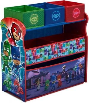 ihocon: Delta Children 6-Bin Toy Storage Organizer, PJ Masks 兒童玩具收納架