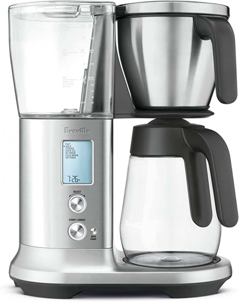 ihocon: Breville Precision Brewer Glass Coffee Maker, Brushed Stainless Steel咖啡機
