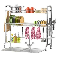 ihocon: Veckle 2 Tier Over The Sink (31.5) Dish Drying Rack 雙層水漕碗盤架