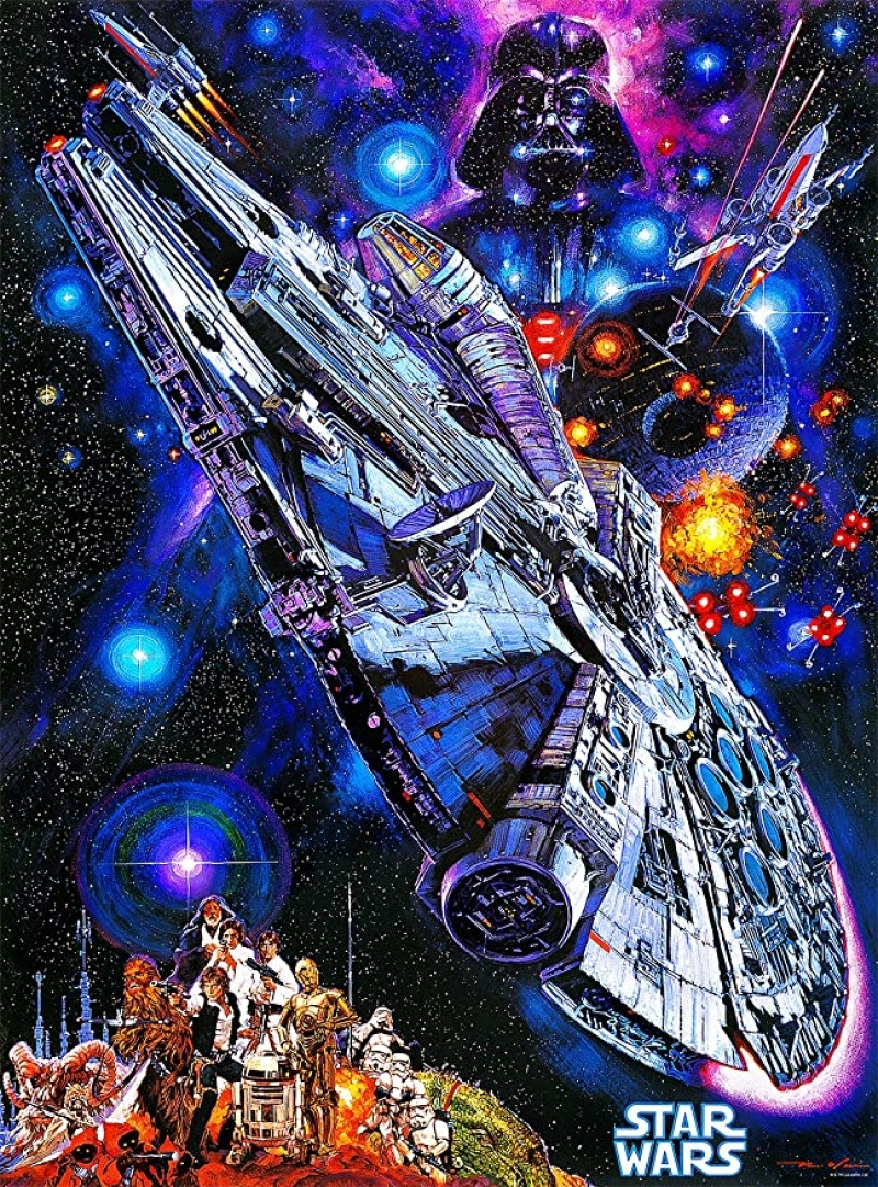 ihocon: Buffalo Games Star Wars Vintage Art: You're All Clear, Kid - 1000 Piece 星球大戰1000片拼圖