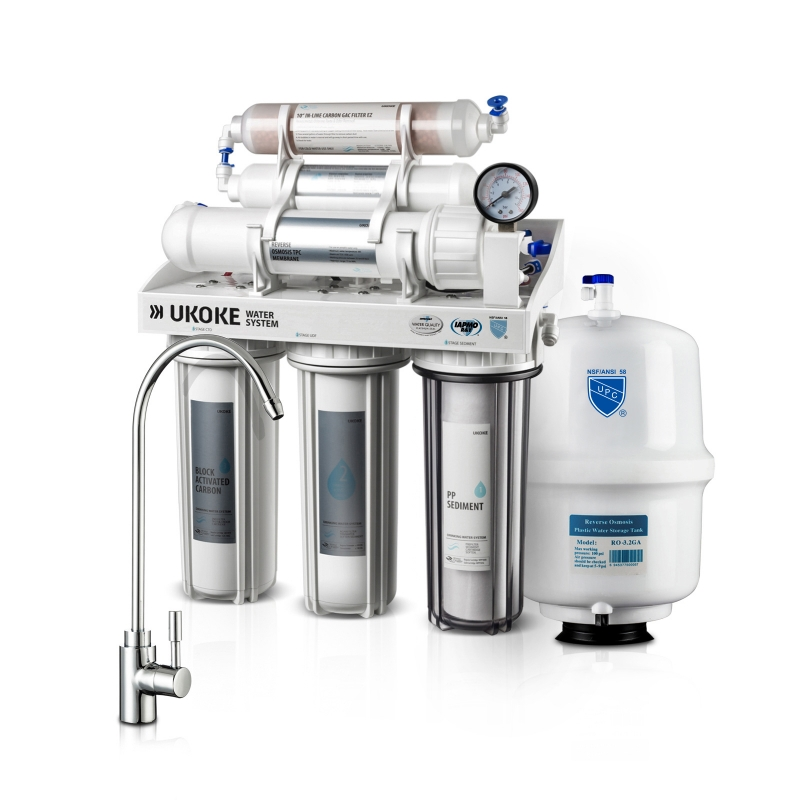 ihocon: Ukoke 6 Stages Reverse Osmosis, Water Filtration System, 75 GPD 逆滲透濾水器