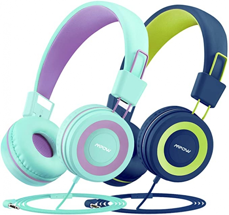 ihocon: Mpow CH8 Kids Headphones with Microphone 2 Pack 兒童耳機