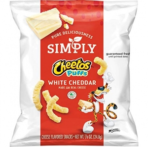 ihocon: Simply Cheetos Puffs White Cheddar Cheese Flavored Snacks, 36 Count