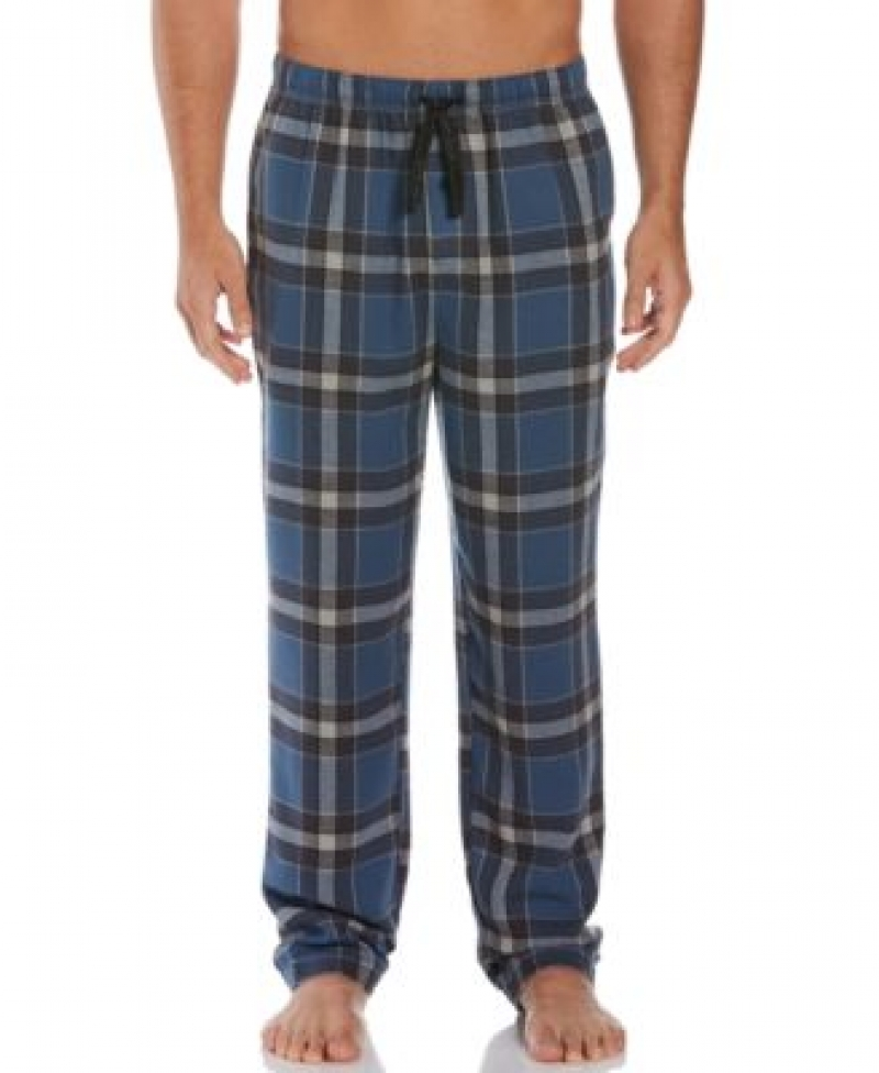 ihocon: Perry Ellis Men's Relaxed-Fit Large Plaid Flannel Pajama Pants 男士睡褲