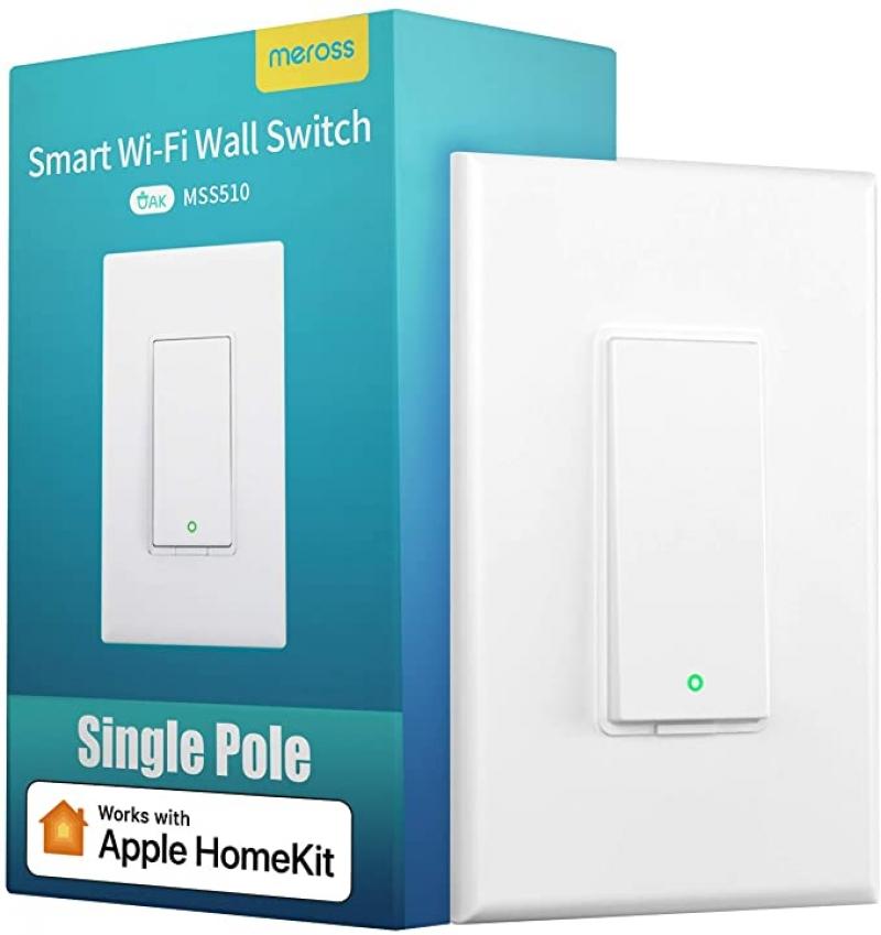 ihocon: [不在家也能開關電燈] meross Single Pole Wi-Fi Smart Light Switch (Alexa, Google Assistant and Apple HomeKit, No Hub Needed) 智能電燈開關