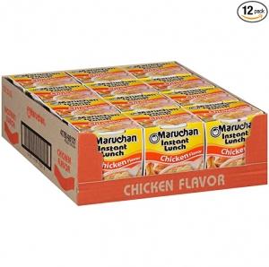 Maruchan 雞肉口味杯麵 12杯 $4.09