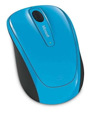 ihocon: Microsoft 3500 Wireless Mobile Mouse, Cyan Blue 無線行動滑鼠
