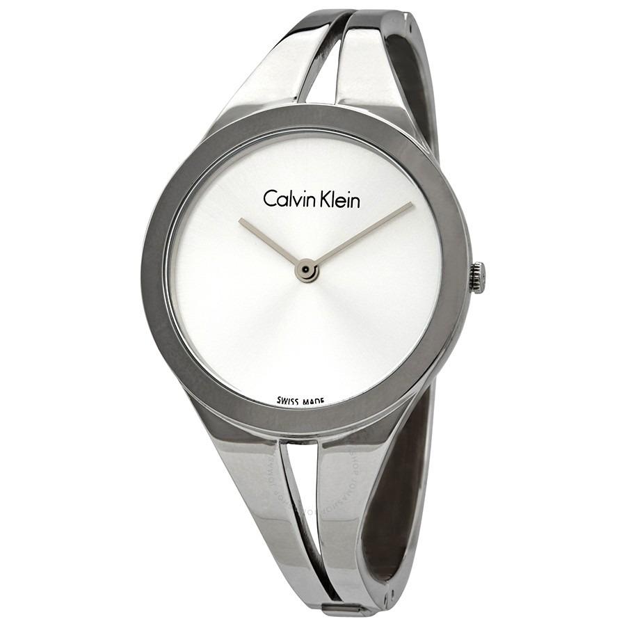 ihocon: Calvin Klein Addict Silver Dial Small Bangle Ladies Watch 女錶