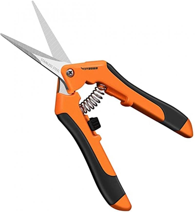 ihocon: VIVOSUN 6.5 Inch Gardening Hand Pruner Pruning Shear with Straight Stainless Steel 園藝修枝剪