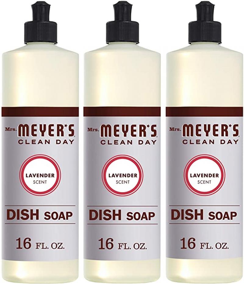ihocon: Mrs. Meyer's Clean Day Liquid Dish Soap, Cruelty Free Formula, Lavender Scent, 16 oz- Pack of 3 洗碗液皂