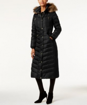 ihocon: MICHAEL Michael Kors Petite Faux-Fur Hooded Maxi Down Coat 連帽羽絨長外套