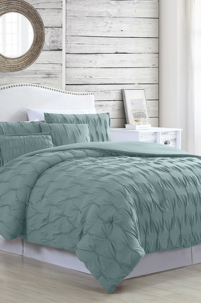 ihocon: Modern Threads 5-Piece Textured Comforter Set - Harper Sea - Queen  五件式棉被, 枕頭套組