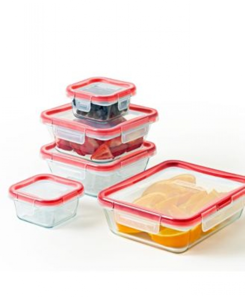 ihocon: Pyrex Freshlock 10-Pc. Storage Set 玻璃保鮮盒