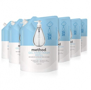 ihocon: Method Gel Hand Soap Refill, Sweet Water, 34 Ounce (Pack 6) 洗手液皂補充包