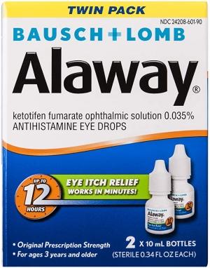 ihocon: Bausch + Lomb Alaway Antihistamine Eye Drops, 0.34 Ounce Bottle Twinpack 博士倫眼藥水