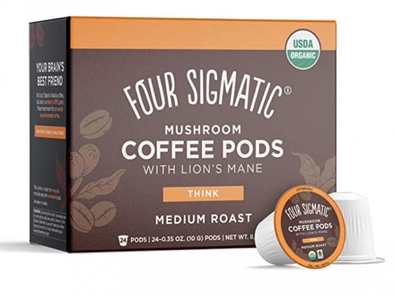 ihocon: Four Sigmatic Mushroom Coffee K-Cups, Organic, 24 Count 有機咖啡膠囊