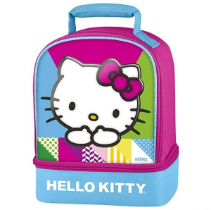 ihocon: Thermos Dual Compartment Lunch Kit, Hello Kitty 午餐袋