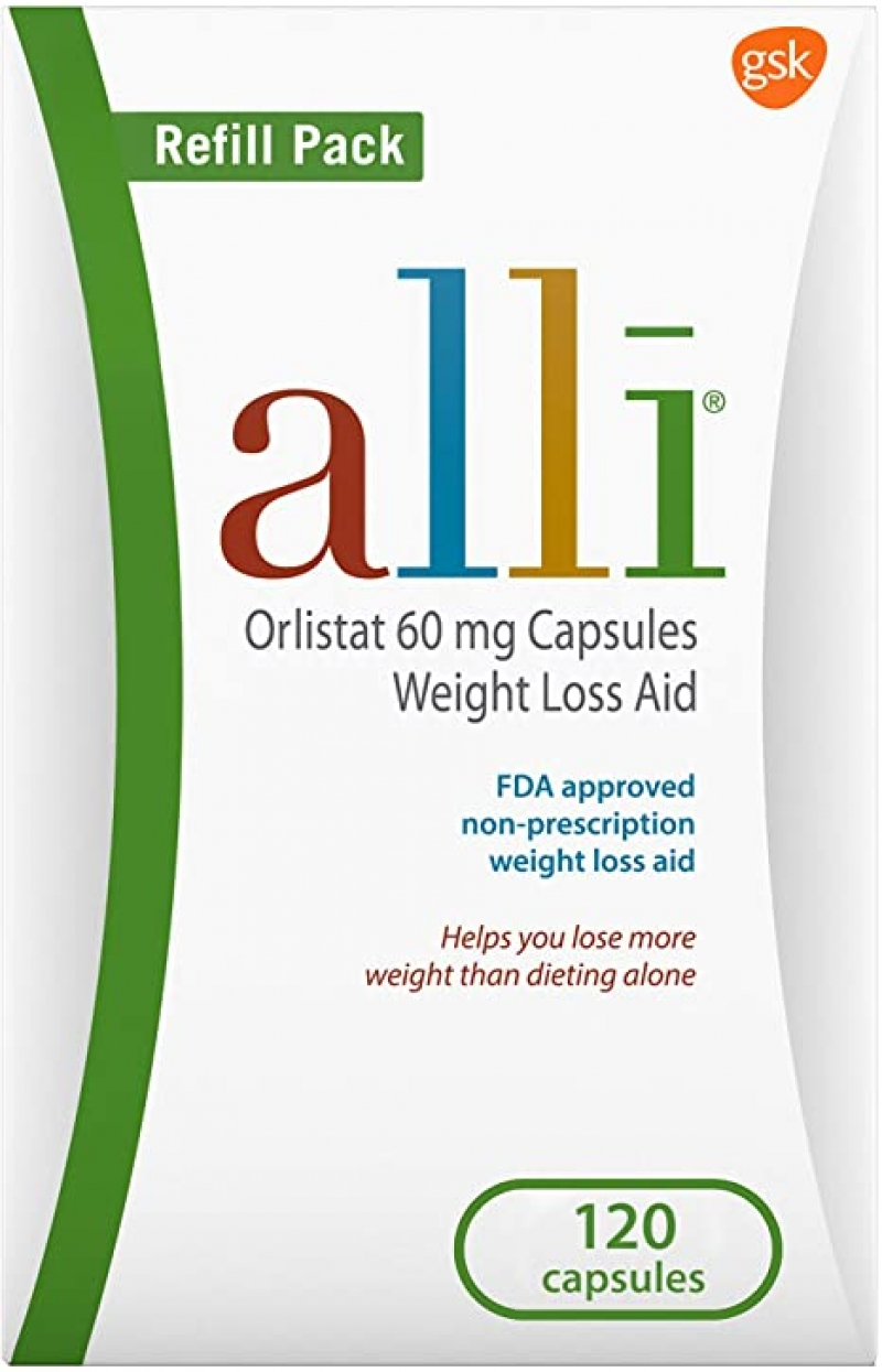 ihocon: alli Weight Loss Diet Pills, Orlistat 60 mg Capsules, Non Prescription Weight Loss Aid, 120 Count Refill Pack  減肥藥(非處方藥)