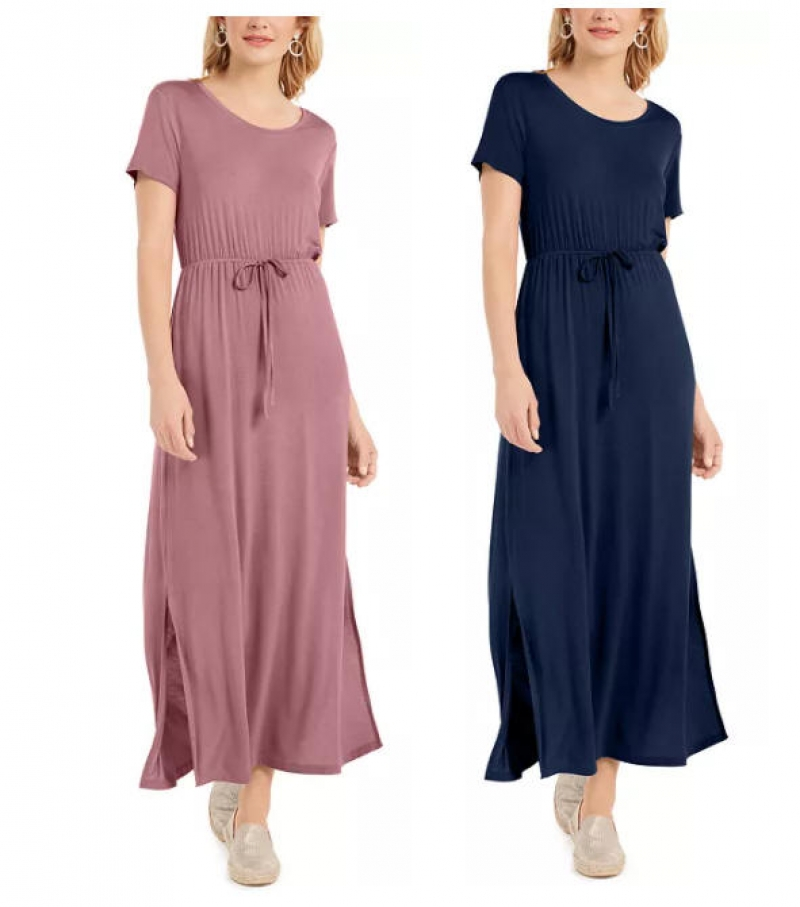 ihocon: Style & Co Tie-Waist Maxi Dress女士連衣裙 - 多色可選
