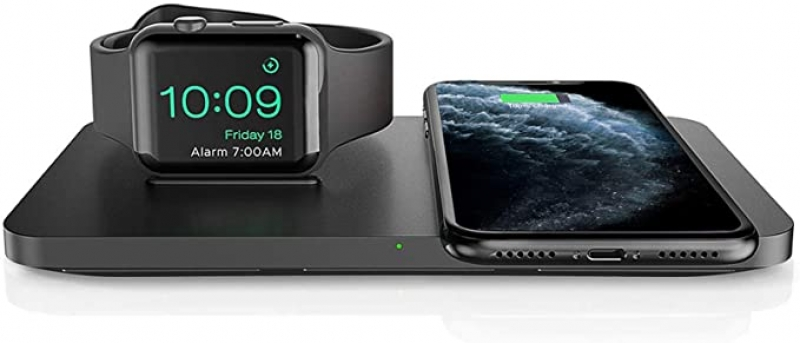 ihocon: Seneo 2-In-1 Dual Wireless Charging Pad with iWatch Stand 2合1無線手機/手錶充電器