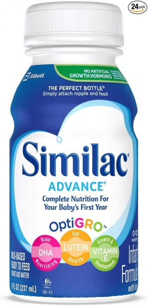 ihocon: Similac Advance Infant Formula with Iron, Baby Formula, Ready to Feed, 8 fl oz (Pack of 24) 即食嬰兒奶粉