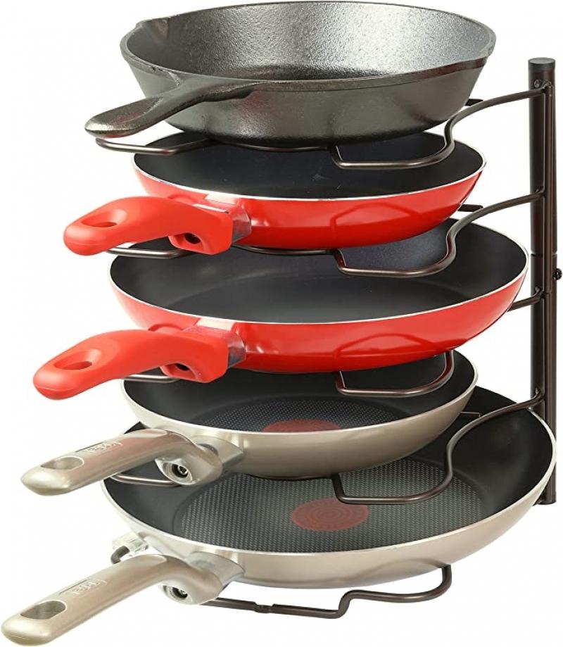 ihocon: SimpleHouseware Kitchen Cabinet Pantry Pan and Pot Lid Organizer 鍋子及鍋蓋收納架