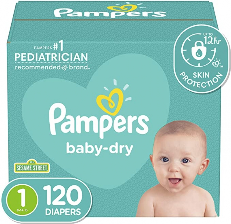 Pampers 幫寶適尿布 Size 1, 120片 $19.99(原價$24.94)