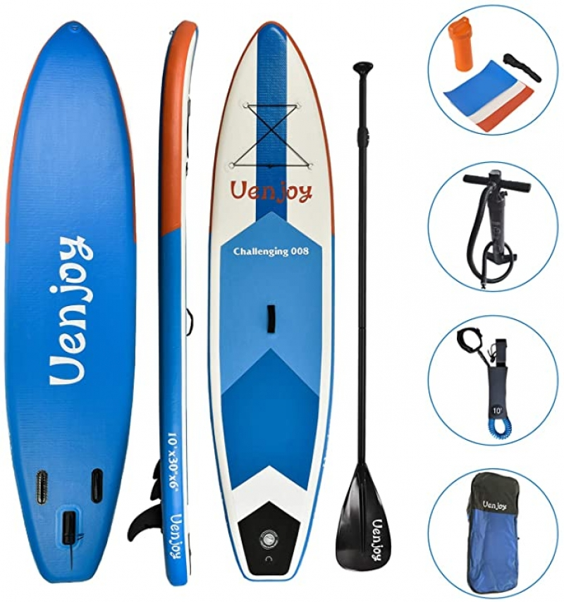 ihocon: Uenjoy Inflatable Sup 11'30x6 All Around Paddle Board, W/Full Accessories 充氣站立式Paddle Board槳板及配件