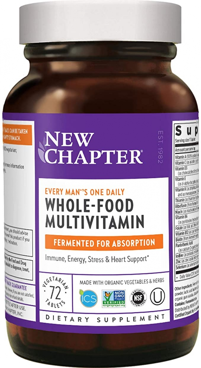 ihocon: New Chapter Men's Multivitamin, 72 Count 男士綜合維他命
