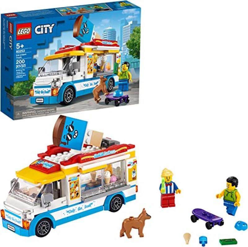 ihocon: [2020新款] LEGO City Ice-Cream Truck 60253, New 2020 (200 Pieces) 樂高城市冰淇淋卡車