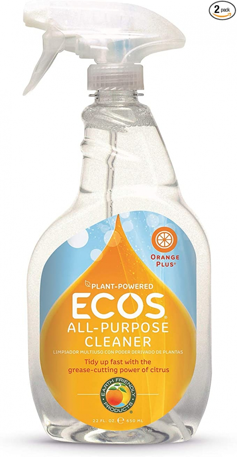 ihocon: Earth Friendly Products ECOS Orange Plus Cleaner, Ready-to-Use Spray, 22 Fl. Oz. (Pack of 2) 環保萬用清潔劑