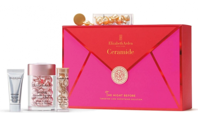 ihocon: Elizabeth Arden Retinol Ceramide Capsules Serum, 30 Count, 4 Piece Skin Care Gift Set 保養套裝(價值$85)