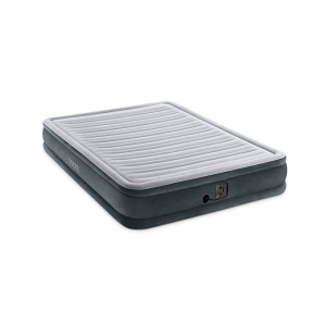 ihocon: Intex Comfort Plush Mid Rise Dura-Beam Airbed with Internal Electric Pump, Bed Height 13 空氣床, 內建打氣幫浦