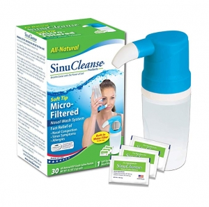 ihocon: SinuCleanse Soft Tip Micro-Filtered Nasal Wash System - Includes 30 All-Natural, Pre-Mixed Buffered Saline Packets洗鼻器, 含30包生理食鹽沖泡包