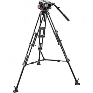 ihocon: Manfrotto 509HD Video Head & 545B Aluminum Tripod Pro Middle-Twin Kit 100 油壓雲台三腳架
