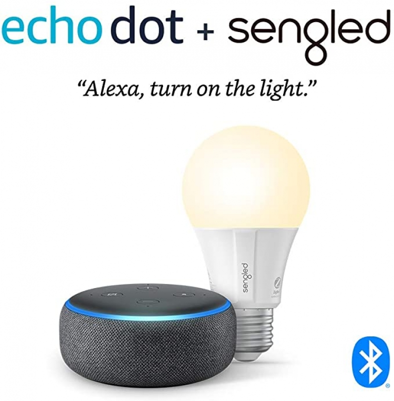 ihocon: Echo Dot (3rd Gen) + Sengled Bluetooth bulb智能燈泡