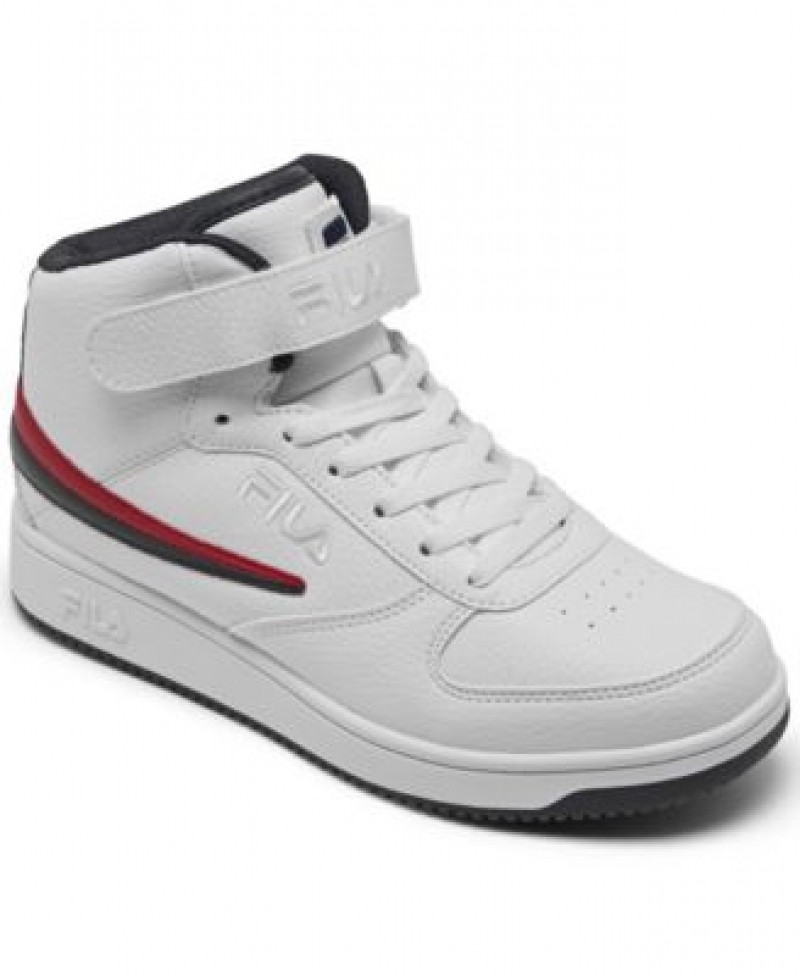 ihocon: Fila Men's A-High Stay-Put Closure High Top Casual Sneakers from Finish Line 男士運動鞋