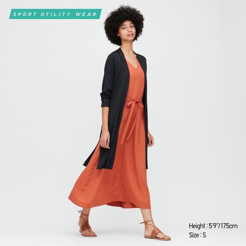 ihocon: UNIQLO WOMEN AIRism UV PROTECTION LONG-SLEEVE LONG CARDIGAN 女士防紫外線長衫-多色可選