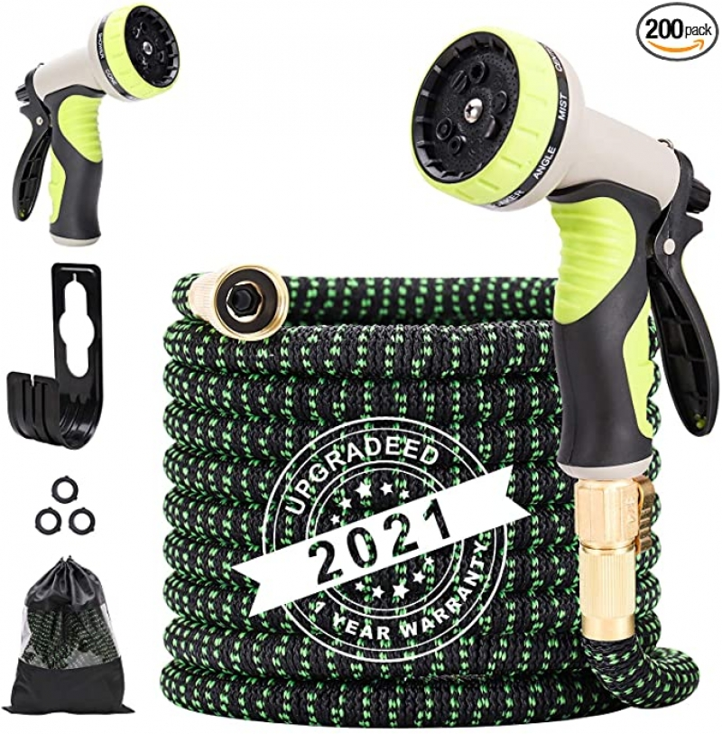ihocon: Umirokin 50ft Expandable Garden Hose with 9 Function Nozzle 伸縮澆花水管, 含噴水頭