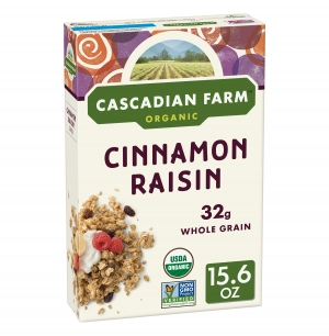 ihocon: Cascadian Farm, Granola, Organic, Cinnamon Raisin, 15.6 oz